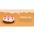 Delicious Cake Excellent Cake Strawberry Pie vector image