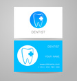 dental clinic logo business card template vector image vector image