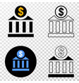 dollar bank eps icon with contour version vector image vector image