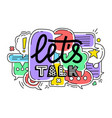 doodle colorful dialog speech vector image vector image