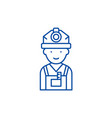 engineer line icon concept engineer flat vector image vector image