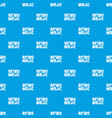 festival retro music pattern seamless blue vector image