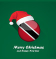 flag of trinidad and tobago merry christmas and vector image
