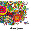 floral background for your design vector image vector image