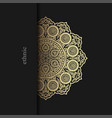 floral ornamental mandala style design background vector image vector image