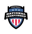 football nationl championship emblem logo vector image vector image