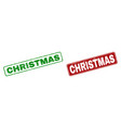 grunge christmas rubber prints with rounded vector image vector image