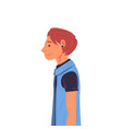 guy wearing casual clothes and earring side view vector image vector image