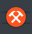 hammers icon logo element vector image