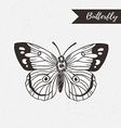 hand drawn butterfly logo design element vector image vector image