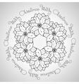 Hand drawn Merry Christmas ornamental vector image vector image