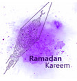 hand drawn sketch of ramadan lantern vector image vector image