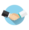 Handshake doctor and patient vector image