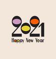 happy new year 2021 conceptual retro design vector image vector image