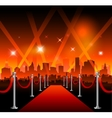 Hollywood movie red carpet vector image vector image