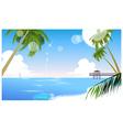 Idyllic beach palm tree vector image vector image