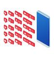 isometric set icon like icon follower icon vector image
