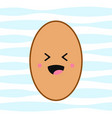 laughing egg cute face in cartoon kawaii style vector image vector image