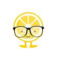 lemon cute smile character vector image