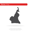 map cameroon isolated black vector image vector image