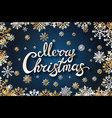 merry chrismas snowflackes lettering perfect for vector image vector image