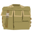 Military camouflage backpack vector image vector image