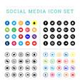 Modern flat social media icons sets
