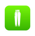 pant icon green vector image