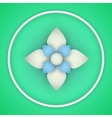 paper flower origami vector image vector image