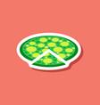 paper sticker pizza vector image vector image
