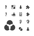 part icons vector image vector image