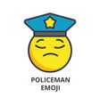 policeman emoji line icon sign vector image