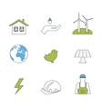 Power energy eco friendly icons vector image