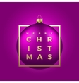 Realistic Christmas Ball on Purple vector image