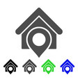 realty location flat icon vector image