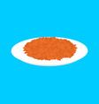 red lentils cereal in plate isolated healthy food vector image vector image