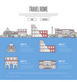 rome city travel vacation guide vector image vector image