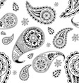 seamless abstract pattern with element henna styl vector image vector image