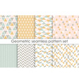 set of abstract seamless patterns collection of vector image