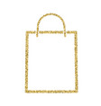 shopping bag icon with glitter effect isolated