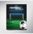 soccer tournament cup poster on green background vector image