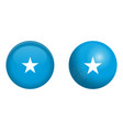 somalia flag under 3d dome button and on glossy vector image vector image