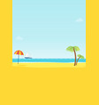summer tropical sea beach background vector image vector image
