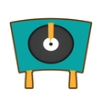 turntable vinyl record lp vector image vector image