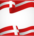 decoration of denmark insignia on white vector image