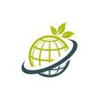 green eco globe icon vector image
