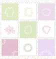 set of square cards Sketch frames hand-drawn vector image