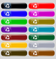 Recycle icon sign Set from fourteen multi-colored vector image