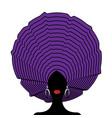 african wedding head wraps afro beauty portrait vector image vector image