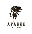 american apache indian logo vector image vector image